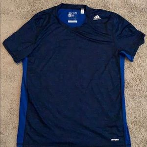 Adidas Fitted Climalite Workout Shirt Size Large